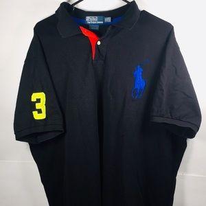 Ralph Lauren Polo Black Shirt Men Sz 2XL